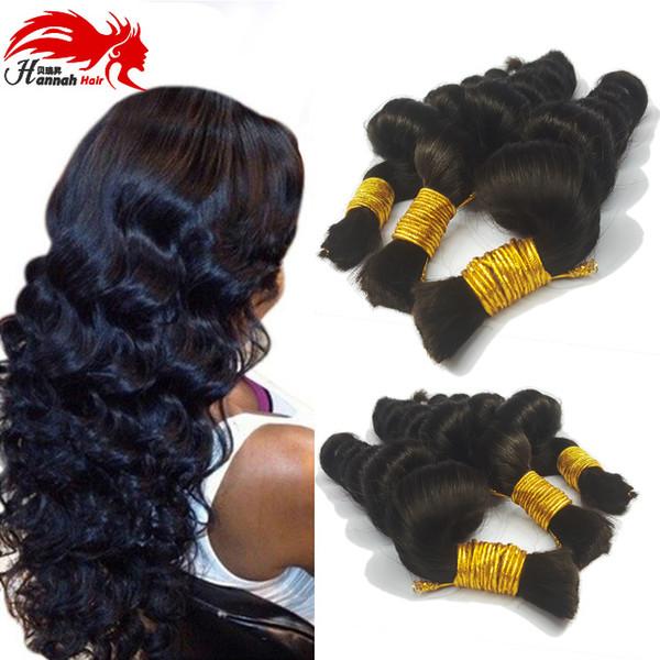 best selling Human Hair For Micro Braids Bulk Hair No Weft Loose Wave Wavy Virgin Braiding Hair Extension