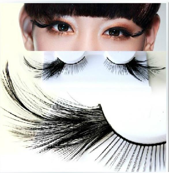 Hot! Black False Eyelashes Stagecraft Exaggeration Feather Fake Eye Lashes Professional Makeup Stage Makeup False Eye Lashes