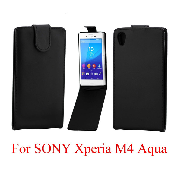 Phone Bags Cover For Sony Xperia M4 Aqua phone case Back coque PU leather Flip Vertical Up-Down Open skin pouch