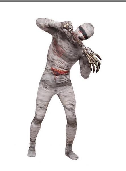 DHL Zentai Full Body Lycra Spandex Halloween Mummy Lycra Spandex Zentai Suits Cosplay Costume Wholesale Retail