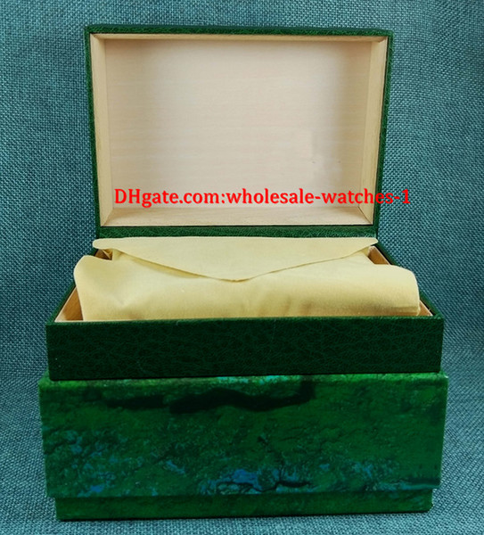 Free shipping Luxury watch Mens For R Watch Box Original Inner Outer Womans Watches Boxes Men Wristwatch Green box