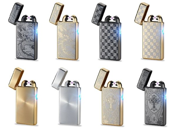 2017 New USB Rechargeable Electric LIGHTER Double ARC PULSE Flameless Plasma Torch