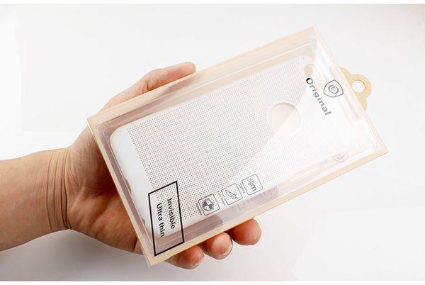 100 pcs en gros Étanche À La Poudre De Mode Téléphone Shell Case D'emballage Boîte pour iphone 7 7plus Cas De Téléphone Mobile PVC Emballage Clair