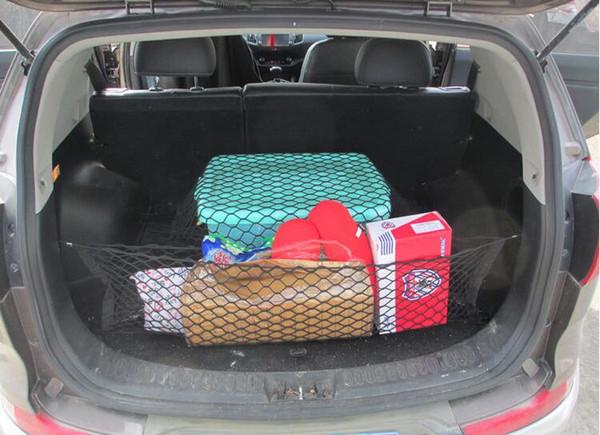 4 crochets coffre de voiture Cargo Net organisateur universel de voiture Arranger Rangement Autocollant Bagages Sac de rangement en maille Car Organizer 70 * 70 100 * 100 90 * 30