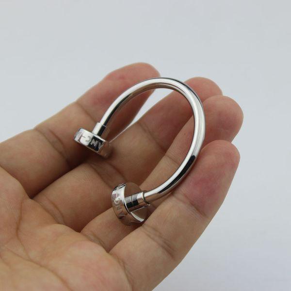 Portachiavi di lusso per portachiavi di design in acciaio inossidabile di lusso per uomo