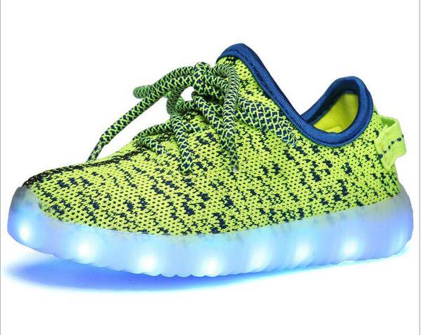 Size 25-37 USB Charging Tenis Led Feminino Basket Led Light Up Trainers Kids Boy Girl Luminous Led Sneakers Child Glowing Shoes