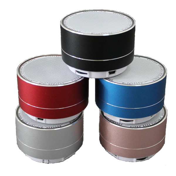 Mini Bluetooth Speaker Metal Steel Wireless Speaker Smart Hands HiFi Speaker With FM Radio Support SD Card USB Disic Free Shipping By DHL