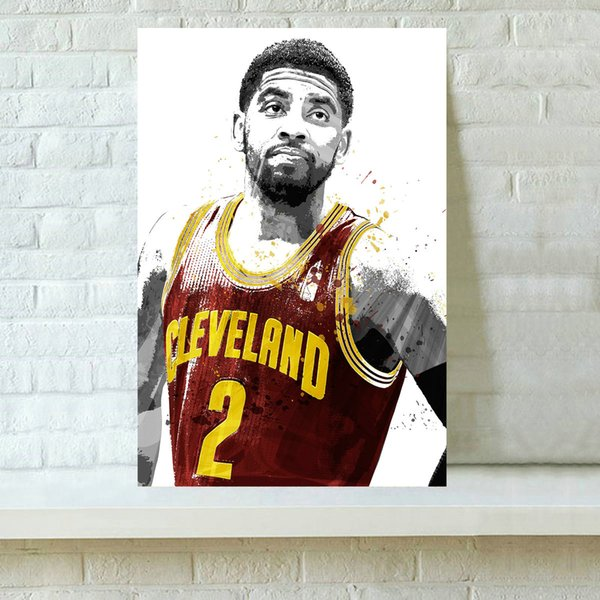 HD Printed Basketball Player Sports Oil Painting Home Decoration Wall Art on Canvas Kyrie Irving III 16x24inch Unframed