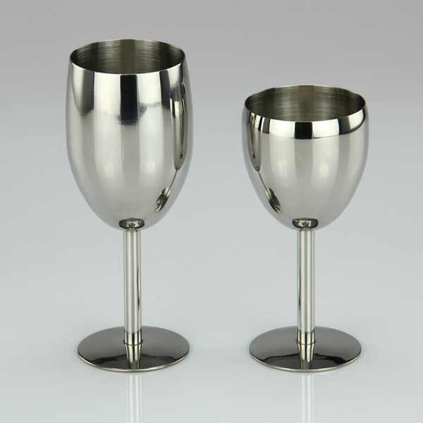 top popular 6oz 8oz Stainless Steel Wine Glass Made of Unbreakable BPA Free Shatterproof Steel Dishwasher Safe for Daily Formal Outdoor Use DEC253 2021