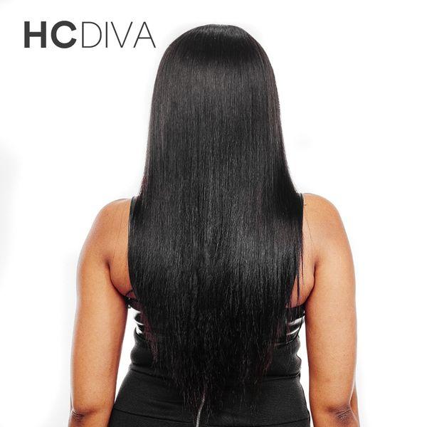 HCDIVA Hair Brazilian Straight Bundles 4 Bundles 8a Grade Brazilian straight bundles Human Hair Extensions Brazilian Virgin Hair Weave Bulk