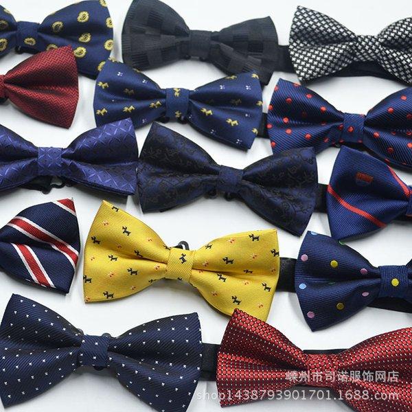 Manufacturers selling men's dress suit British Korean trendy bow tie explosion wholesale