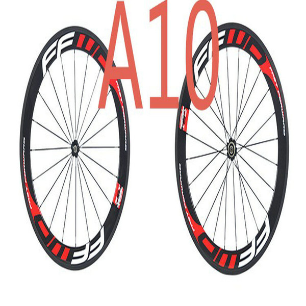 2017 style FFWD F6R red white 60mm Clincher/ tubular carbon wheels 700C road bike full carbon bicycle wheelset light weight free shipping