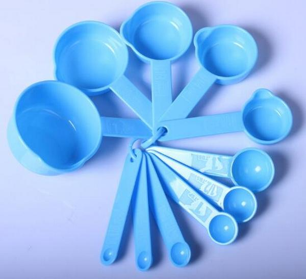 10sets/lot, Amount of milk to scoop spoon Coffee color 11pcs/set measuring spoon of baking measurement tools kitchen gadget