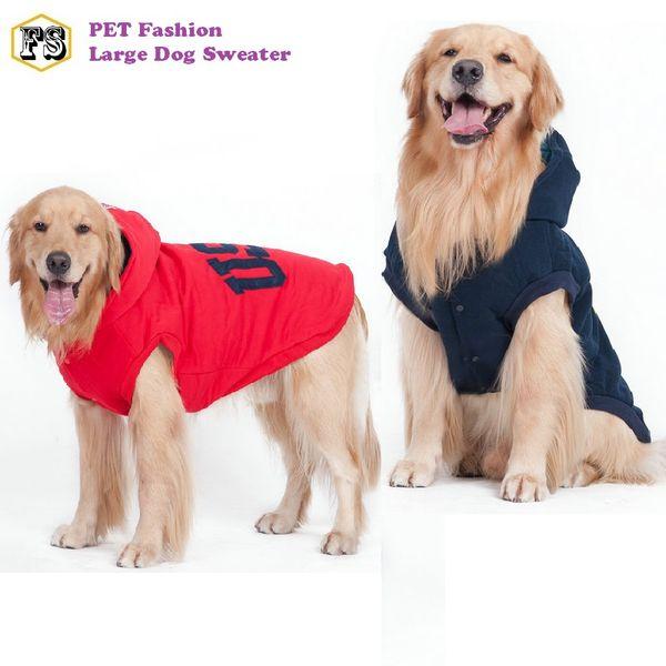 Caliente gran ropa para perros polar invierno cálido abrigos de suéter mascotas chaquetas para mascotas suministros para mascotas al por mayor envío gratuito