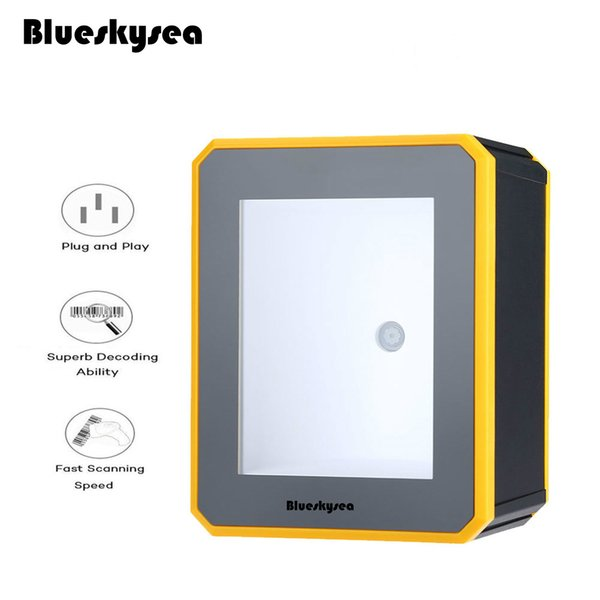 best selling Wholesale- Blueskysea YK-MP2600 1D 2D Platform Barcode Scanner USB Wired Desktop 2D QR Code Reader Omnidirectional 2D QR PDF417 Scanner