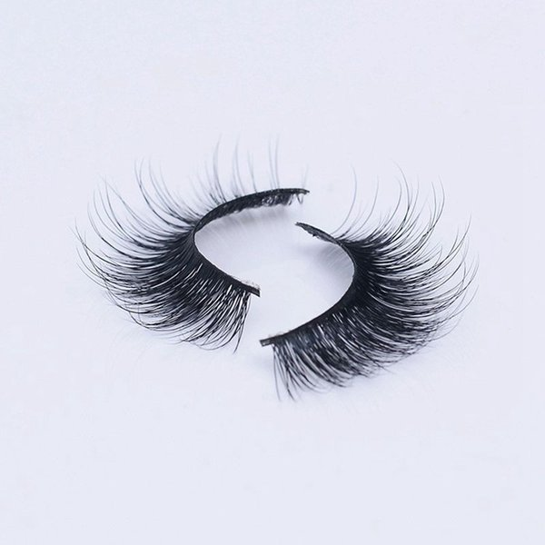 Selling 1pair/lot 100% Real Siberian 3D Mink Full Strip False Eyelash Long Individual Eyelashes Mink Lashes Extension 3D-39