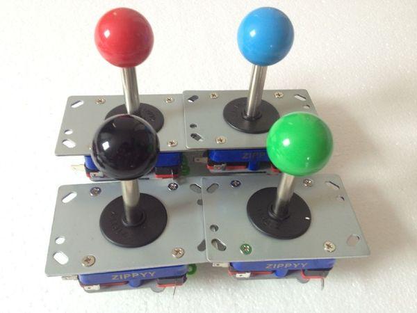 4 pcs ZIPPYY Joystick Long shaft blue yellow ball top 4ways and 8 ways joystick arcade machine parts joystick with Microswitches