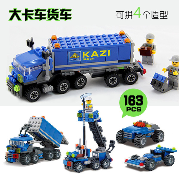2017 4style Block truck Inductive Fangle Vechicle Toy Children's Car Truck Model Tank Car Toy Factory Direct Large Stock B621