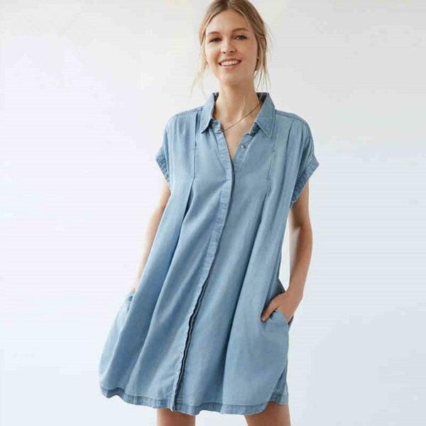 Элегантные джинсовые платья