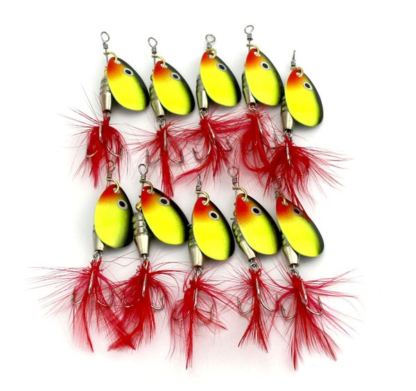 10pcs of Metal Spoon Fishing Lure Hard Artificial Jigging Bait Hook Pesca Fishing Spinnerbait Accessoires Leurre Peche Pesca Hooks