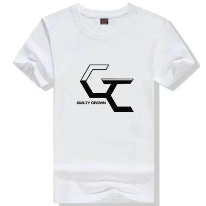 Ouma Shu T shirt Guilty Crown short sleeve gown Anime GC tees Leisure printing clothing Quality cotton Tshirt