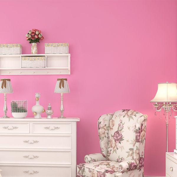 Pink, Solid Color Wallpaper, Bedroom, Living Room, Children\'S Room ...