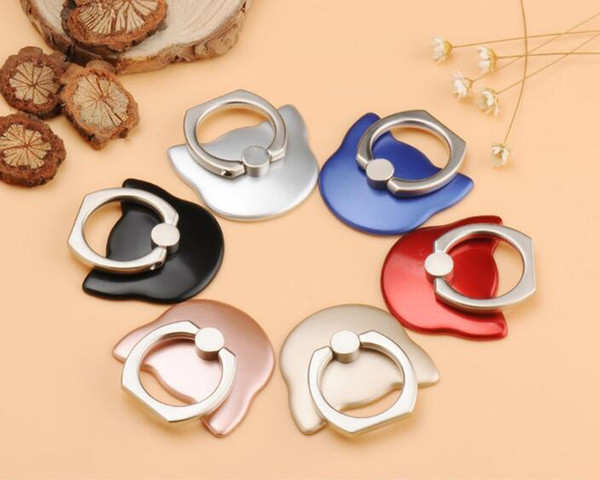 Colorful Cell phone mobile phone holder 360 Degree finger ring Smartphone Stand wholesale with retail box bag packing BY DHL Free