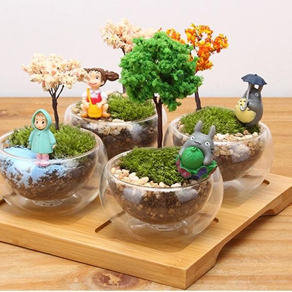 2019 Home Decor Accessories Tree Toys Statues Diy Fairy Garden Miniatures Resin Craft Terrarium Figurines Bonsai Tool Gnomes Micro Landscape From