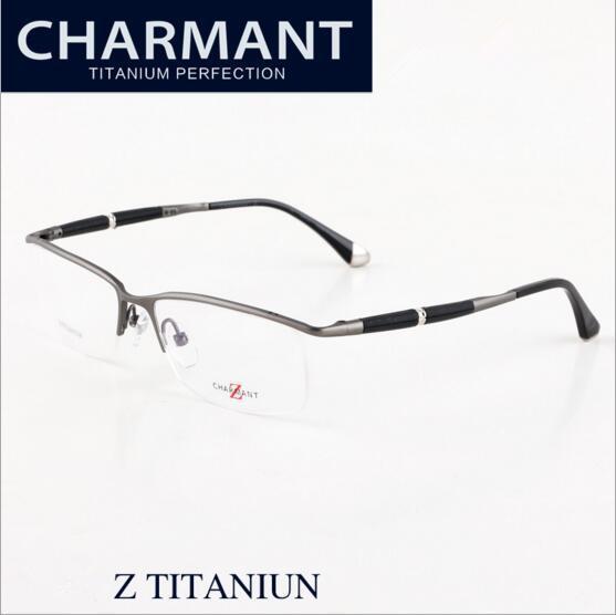 de9156dd460 2019 Brand Glasses 2017 New Brand Designer Eyeglasses ZT19812A Charmant  Optical Frames Z Titanium Men Rimless Eyewear Frame Myopia Size 56 15 140  From ...