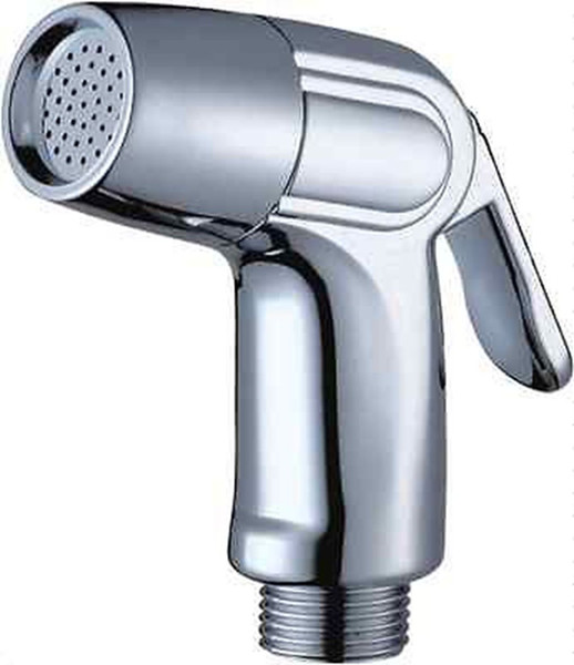 """best selling Bathroom Toilet ABS Bidet Single Head Sprayer Hand Held Chrome Finishes Douche Shattaf Diaper Washing Spray Shower Nozzle G1 2"""" Connect Size"""