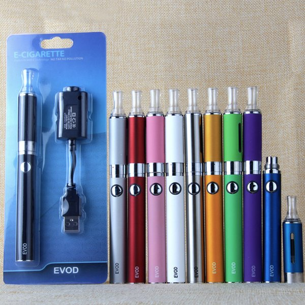 MT3 EVOD Starter Kit Blister Package Electronic Cigarette 650mAh/900mAh/1300mAh Battery MT3 Atomizer Vaporizer Clearomizer With USB Charge