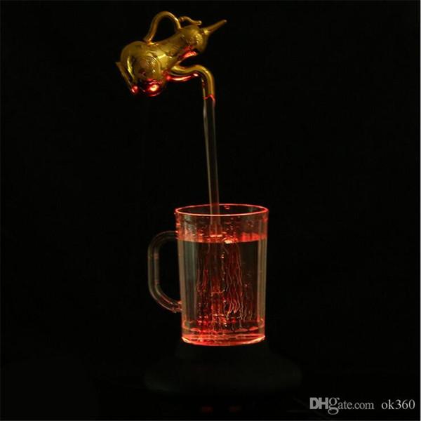 LED Su lamba dekorasyon ışık Renkli sihirli kupa lamba sihirli Gece aydınlatması LED Sihirli Musluk Mug Güzel yılbaşı hediye musluk