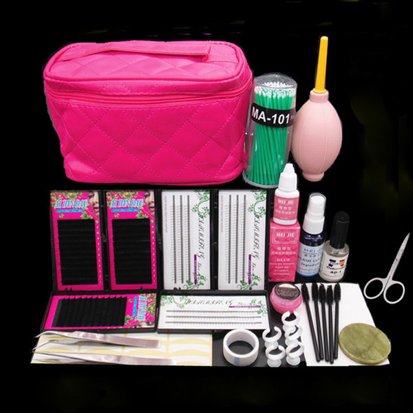 Professional False Eyelash Extension Cosmetic Set Natural Cluster Long Individual Lashes Kit False EyeLash Lashes Makeup Set