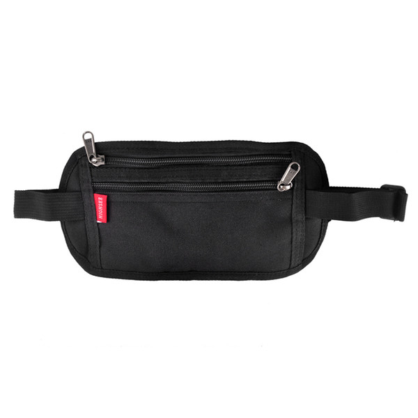 Wholesale Men Women Outdoor Sport Travel Waist Bag Invisible Pocket Passport Card Function Fanny Pack Anti-theft Security Pouch
