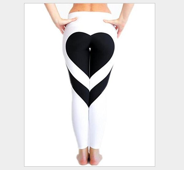 New Arrival Heart Yoga Pants Women Fitness Sexy Hips Push Up Leggings Breathable Running Tights Leggins Athletic Workout Sportswear