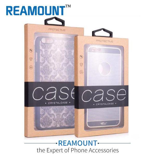 Розничная Мобильный Телефон Чехол Пакет Бумага Крафт-Коричневый Упаковочная Коробка для iphone5 6 7 Samsung S4 S6 Note5 Сотовый телефон