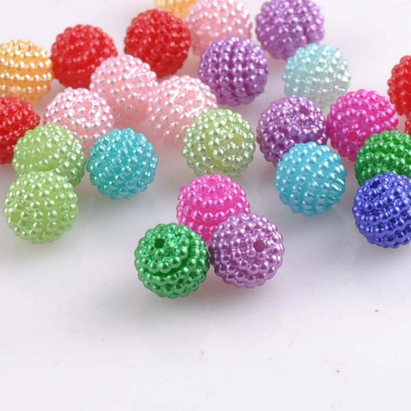 1000PCS 12mm Blend Color Imitation Pearl Beads Round Beads Mix color Fit Europe Beads Jewelry making DIY Accessory
