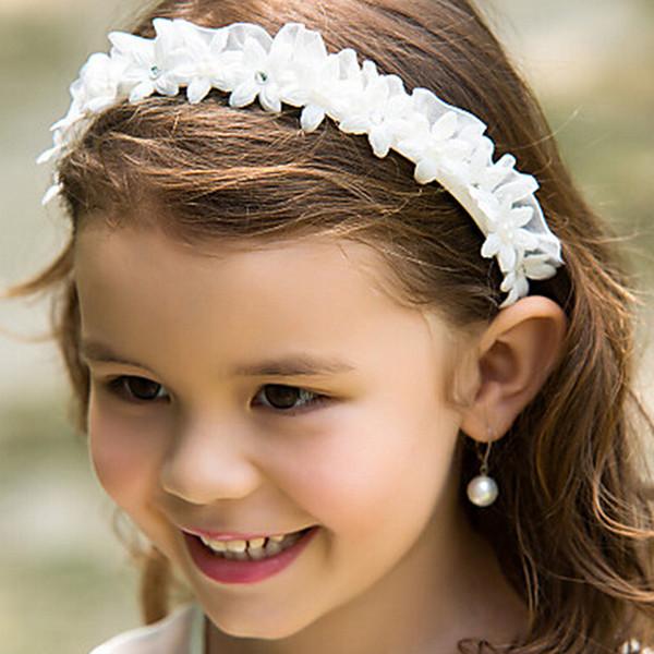 Cheap White Flower Girl Headbands Wedding Hair Accessories For Children  Formal Kids Party Head Pieces Cute