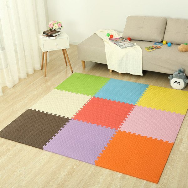 Children Crawling Mat Leaf Shape With Solid Color Stitching Mats Home Game Floor Ground Foam Anti Skid Pad Multi Colors 0 97ys F