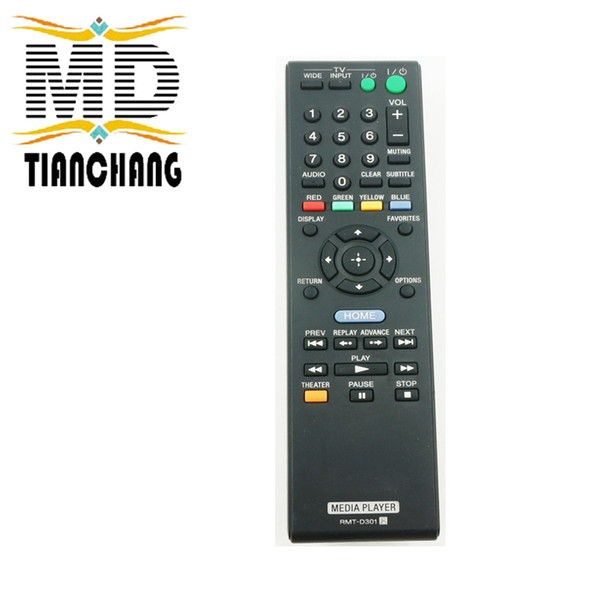 Wholesale- General Replacement For Sony RMT-D301 Remote Commander Fit For SMPN100 SMP-N100 NETWORK WIFI MEDIA PLAYER