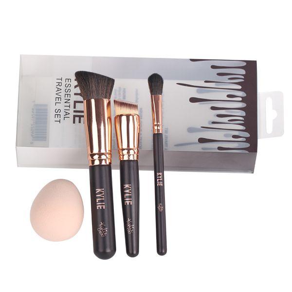 Hot Makeup Brushes Kylie Essential Travel Set Makeup Tools Wooden ...