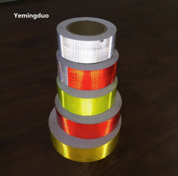 best selling 5CM*50M PVC Self-adhesive Reflective Warning Safety Tape