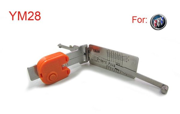 auto 2 in 1 smart decoder and pick tool YM28 for opel auto pick tools for locksmith with high quality