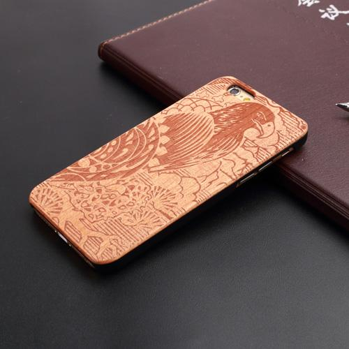 U&I Real wood Factory Eco-friendly personalized Wooden Cell Phone Case for IPhone, for IPhone wood case cherry wood