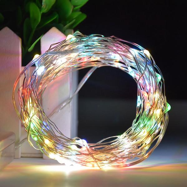 rifornimento della fabbrica LED Light String 5m 50leds filo di rame 3 * batteria AA 8function telecomando Luce di Natale Capodanno decorazione Wedding