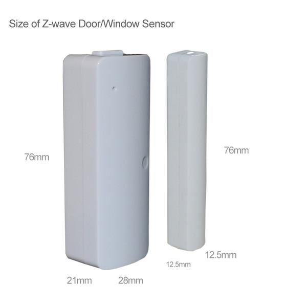 Sensor de puerta / ventana al por mayor-cableado de 300 mm, cable de z-wave alargado aleatoriamente magnético interruptor de sistema de alarma para el hogar