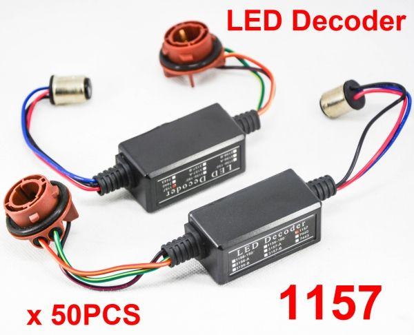 50x 1157 3157-A 3157-B 7443 2-Kontakt Hi-Power LED Bulb Fehlerfrei Canbus Canceler Adapter Decoder Nebel Blinkerbremse Anti-Hyper Flash Blinkt