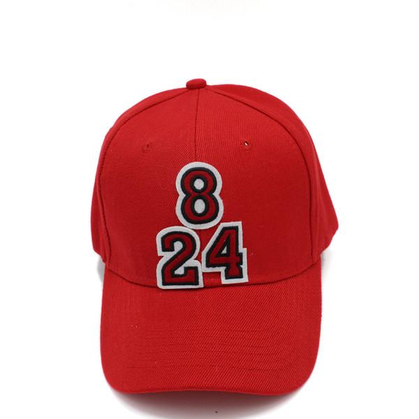 28190717f87 Kobe Jersey Number 8 and 24 Logo Unisex Snapback Adjustable 6 Panel Baseball  Cap Fans Peaked Cap Gorras for Men Women