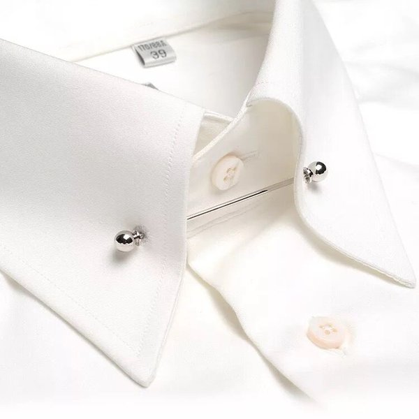 1pc Hombres Clásico Broche Pins silve y oro Collar Traje Stick Breastpin Solapel Pin Mens Corbata Tie Clip