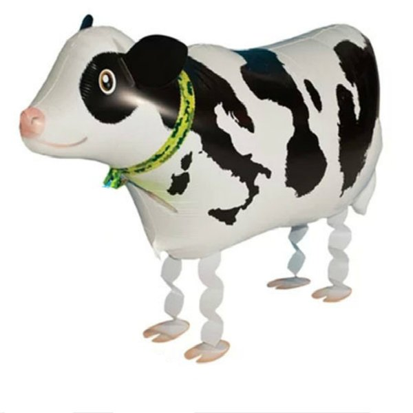 Cow Pet Helium Walking Balloon Baby Shower Foil Balloons Party Birthday Decorations Toy Kids Gift